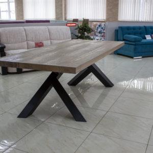 rechthoekige vierkante teruggewonnen houten eettafel