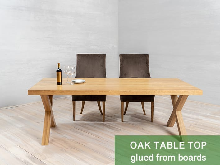 gelijmd tafelblad van planken