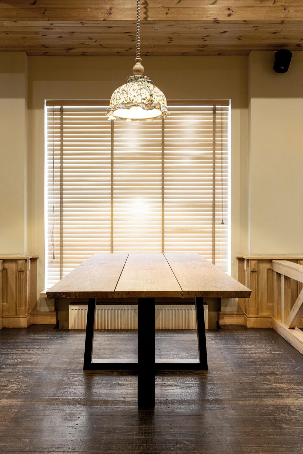 Eiken tafel 3 planken