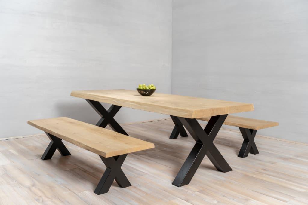 op maat gesneden houten tafelblad