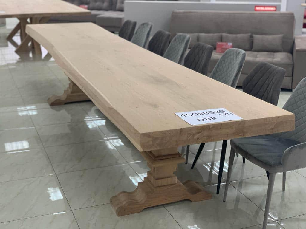 Eiken tafel groot formaat