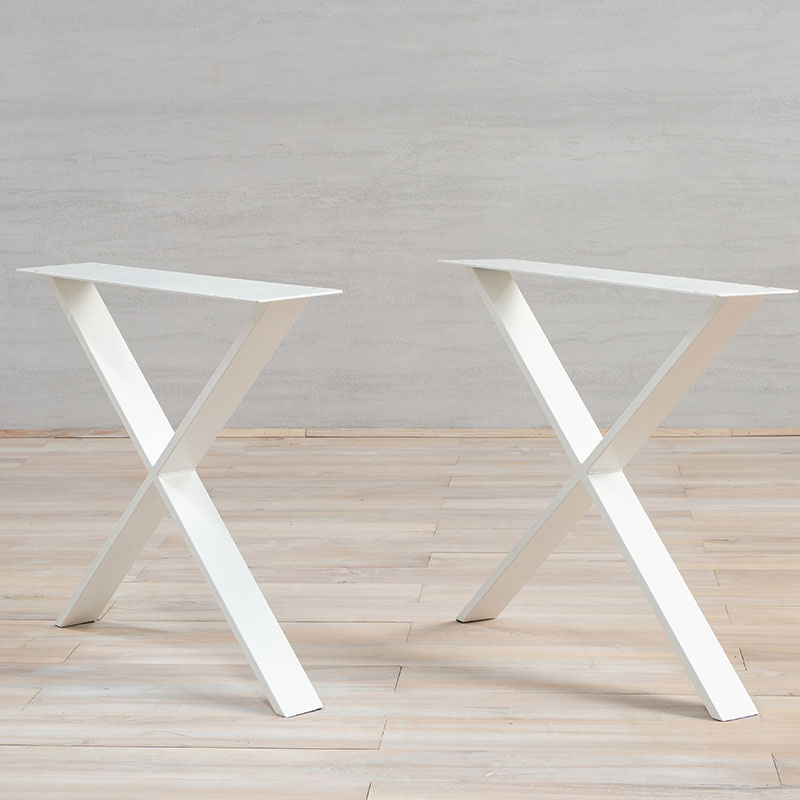 White Metal Table Legs