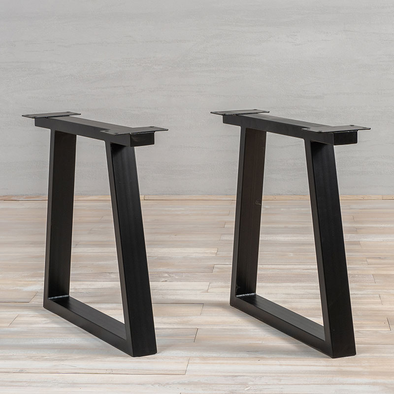 Black Metal Table Legs Trapez