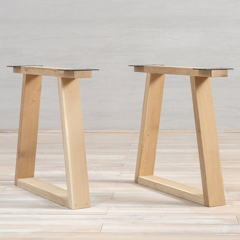 Wooden Table Legs Oak Trapez